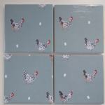 4 Ceramic Coasters in Sophie Allport Mini Chickens